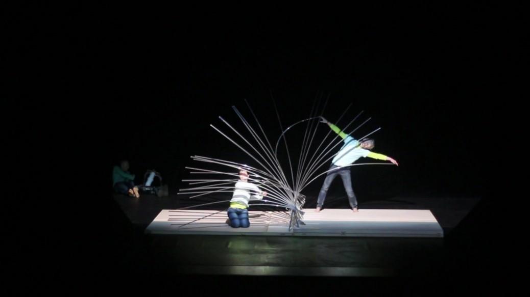 cils sous contrainte d'un danseur